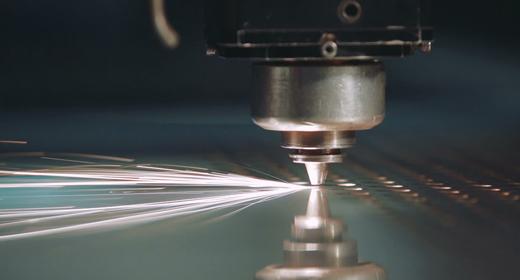 CNC Laser Metal Sparks