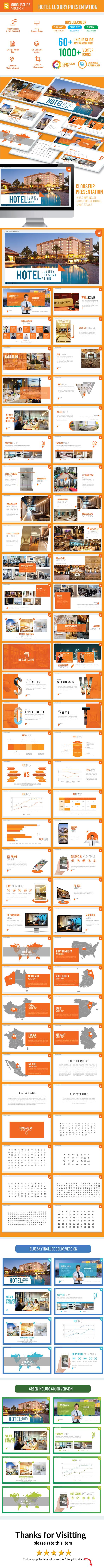 Hotel Luxury - Google Slide Presentation Template - Google Slides Presentation Templates