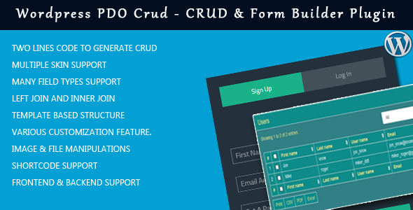 Wordpress PDO Crud – Crud & Form Builder Plugin for wordpress - CodeCanyon Item for Sale