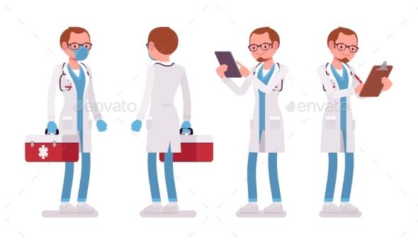 Male Doctor Standing Pose - Health/Medicine Conceptual