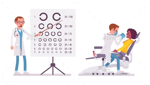 Male Dentist and Ophthalmologist - Health/Medicine Conceptual