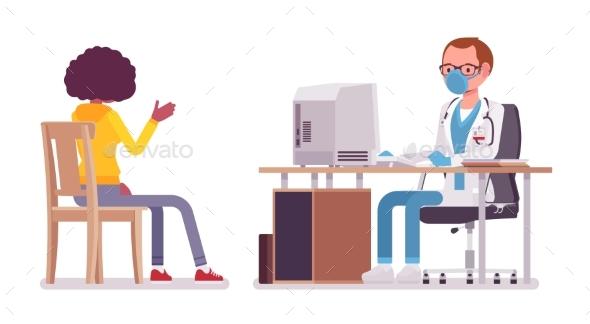 Male Doctor Therapist Consulting Patient - Health/Medicine Conceptual