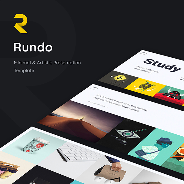 Rundo. Minimal & Creative Template (Google Slide) - Google Slides Presentation Templates