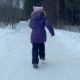 Running Girl Teenager Playing in Snowy Forest During Winter Walking - VideoHive Item for Sale
