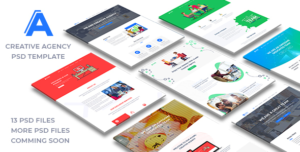 avabil creative agency PSD templates