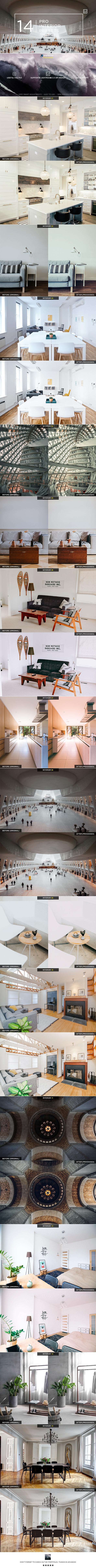 14 Pro Interior Presets - HDR Lightroom Presets