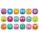 Colorful Buttons Emoticons