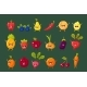 Fruits, Berries and Vegetables Sett, Pepper - GraphicRiver Item for Sale
