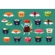 Sushi and Rolls Characters Sett, Japaneset Food - GraphicRiver Item for Sale