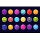 Glossy Colored Balls Sett of Vector Illustrations