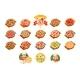Pizza Sett, Popular Varieties of Pizzas Vector