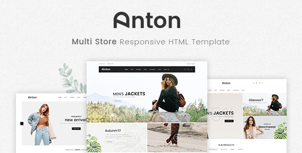 Anton - Multi Store Responsive HTML Template - Fashion Retail