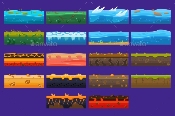 Landscape Elements Sett, Ground Collection - Landscapes Nature