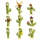 Cactus Characters Set