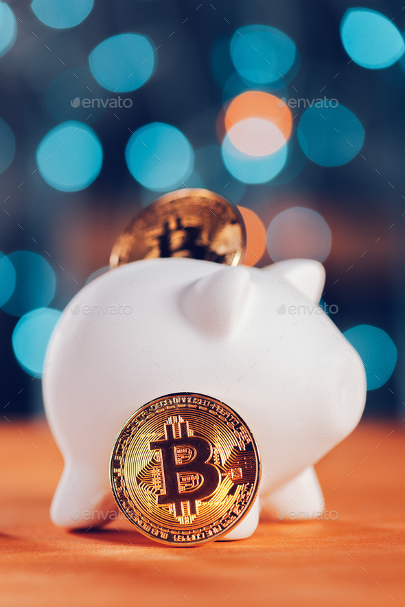 Bitcoin saving and investment concept - Stock Photo - Images