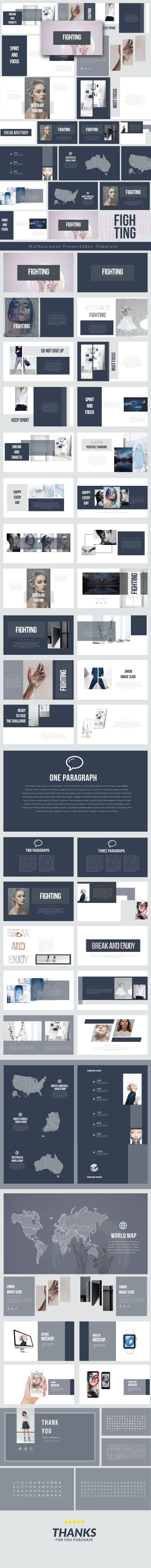 Fighting - Multipurpose Presentation Templates - PowerPoint Templates Presentation Templates