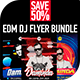 EDM Dj Flyer Bundle 4 - 2018 - GraphicRiver Item for Sale
