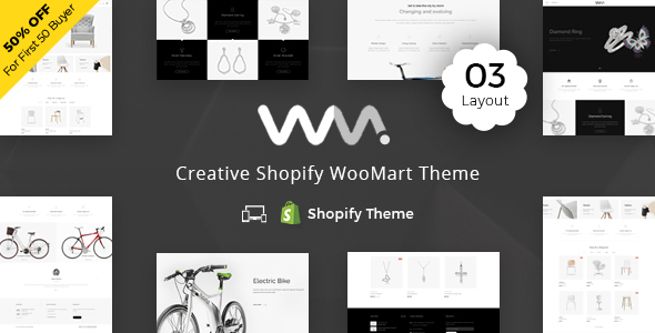 Image of WooMart - Sectioned Multipurpose Shopify Theme