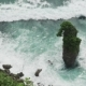 View From the Cliff To the Ocean in Uluwatu, Bali, Indonesia. Cloudy Weather. View of the Cliff and - VideoHive Item for Sale