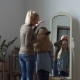Lovely Mother Combing Her Daughter's Hair at Home - VideoHive Item for Sale