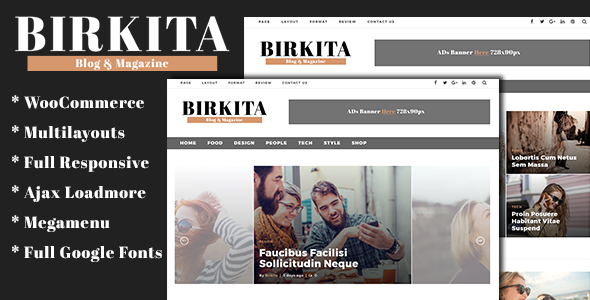 Birkita - WordPress Blog and Magazine Theme