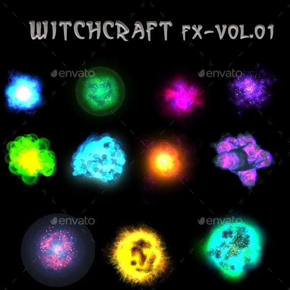 WitchCraft FX Vol 01 - Sprites Game Assets