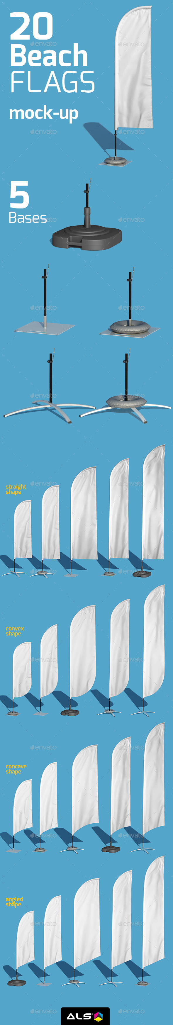 20 Beach Flag Mock-up - Signage Print