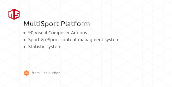 MSP - MultiSport & eSport WordPress plugin with 90 Visual Composer addons - CodeCanyon Item for Sale