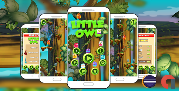Little Owl Jumping Game with Accelerometer Control Android ( Eclipse + Admob ) - CodeCanyon Item for Sale