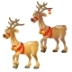 Cartoon Figures of Christmas Deer Isolated - GraphicRiver Item for Sale