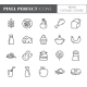Gluten Free Products Theme Pixel Perfect Line Icon