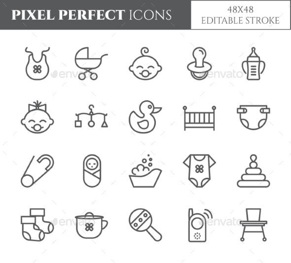 Baby Theme Pixel Perfect 48X48 Icons. - Miscellaneous Icons