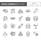 Meals Theme Pixel Perfect Thin Line Icons - GraphicRiver Item for Sale