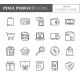 Shopping Theme Pixel Perfect Thin Line Icons. - GraphicRiver Item for Sale