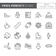 Winter Vacation Theme Pixel Perfect Line Icons. - GraphicRiver Item for Sale