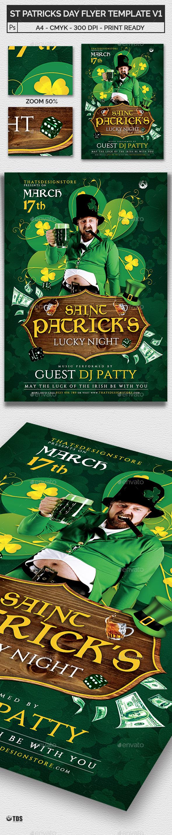 Saint Patricks Day Flyer Template V1 - Print Templates