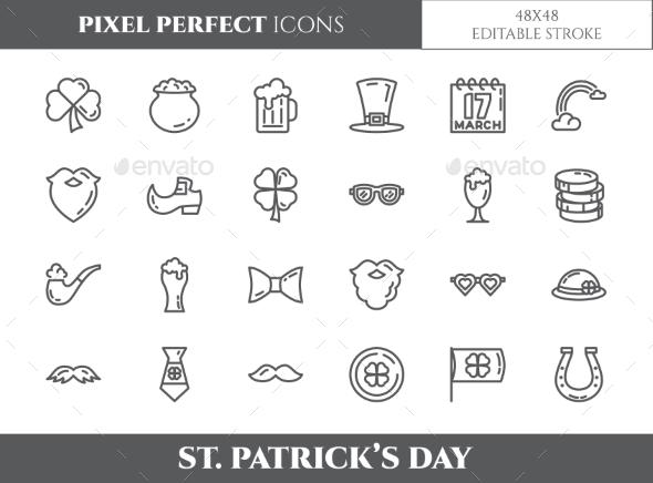 St. Patrick's Day Theme Pixel Perfect Icons - Miscellaneous Icons