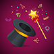 Magic Wand Party Concept - GraphicRiver Item for Sale
