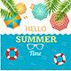 Hello Summer Time Banner Set - GraphicRiver Item for Sale