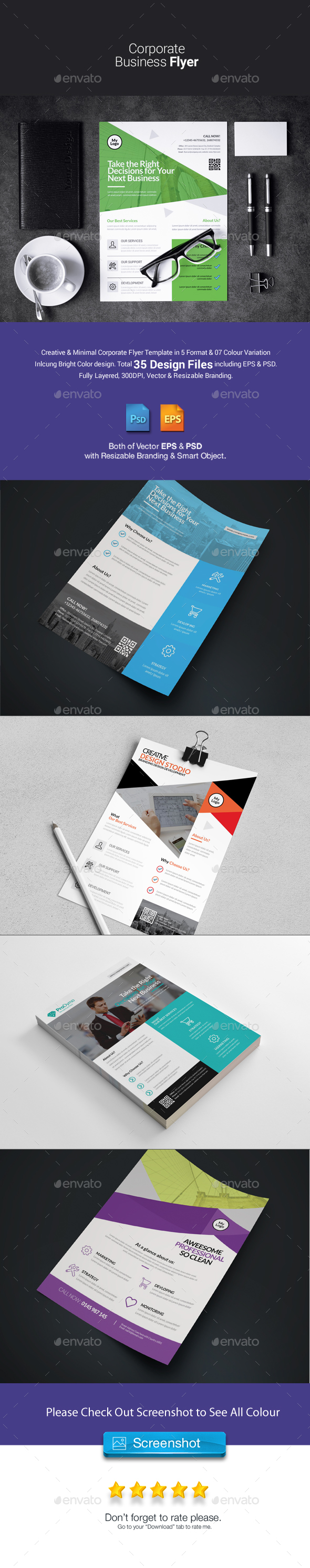 Corporate Flyer Bundle 5 in 1 - Corporate Flyers