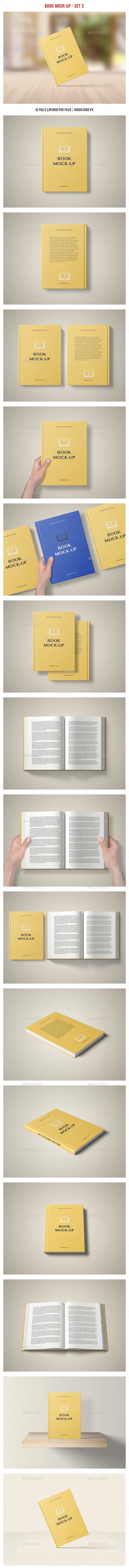 Book Mockup - Set 3 - Books Print