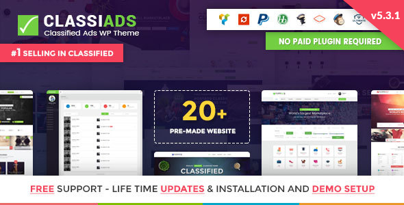 Classiads - Classified Ads WordPress Theme