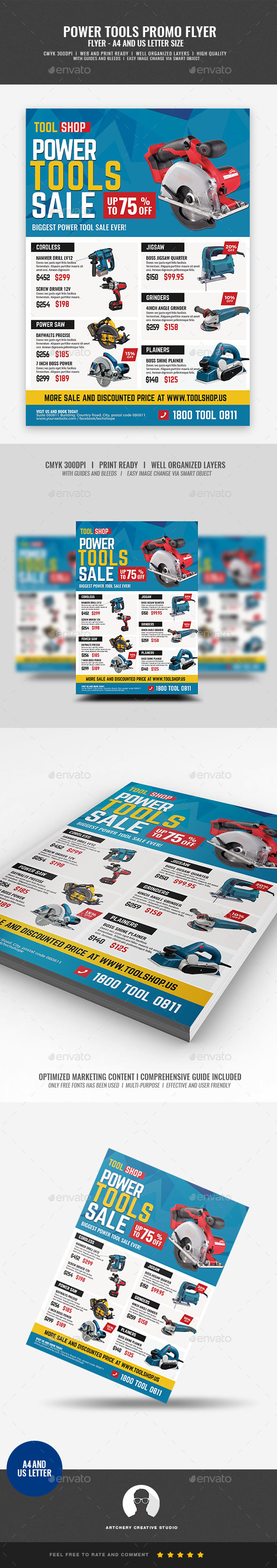 Power Tools Sale Flyer - Commerce Flyers