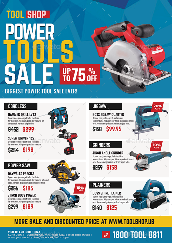 Power Tools Sale Flyer By Artchery Graphicriver