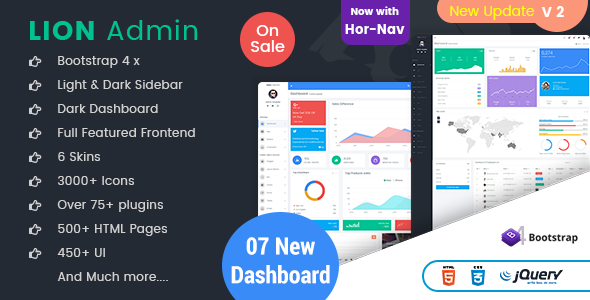 Lion - Responsive Bootstrap 4 Admin Dashboard Template and WebApp Template