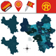 Map of Hanoi with Divisions - GraphicRiver Item for Sale