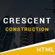 Crescent - Construction HTML Template - ThemeForest Item for Sale
