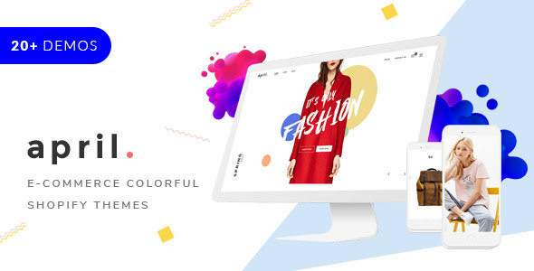 APRIL- Sectioned Shopify Themes 20+ minimal creative designs for fashion jewelry furniture food