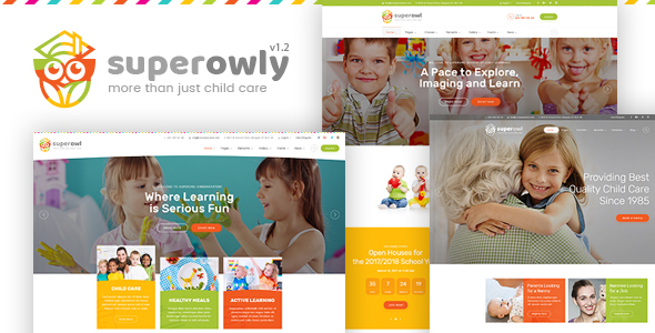 Image of SuperOwly - Kids WordPress Theme