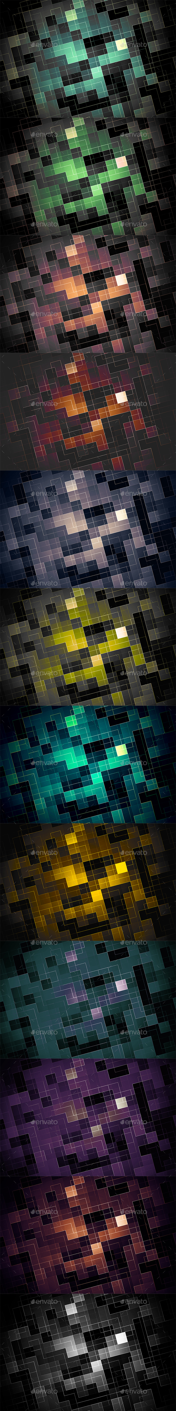 Digital Pixel Backgrounds - Patterns Backgrounds